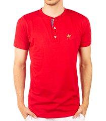 camiseta fondo entero con perilla en contraste rojo ref. 107021119
