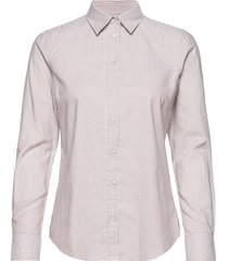 the oxford banker slim shirt overhemd met lange mouwen beige gant