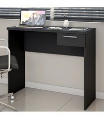 mesa escrivaninha 1 gaveta nt2000 preto - notavel