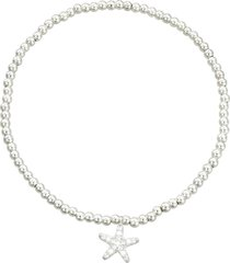 bracciale stella marina in metallo e cristalli in stile boho chic per donna