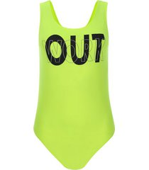 body out work color verde, talla 10