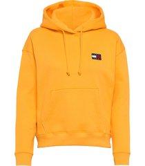 tjw tommy badge hoodie hoodie trui geel tommy jeans