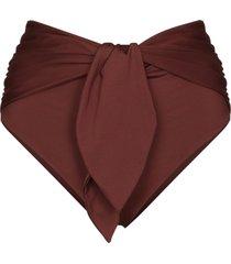 johanna ortiz tie front bikini bottoms - brown