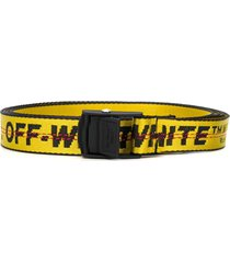 off-white mini industrial logo belt - yellow