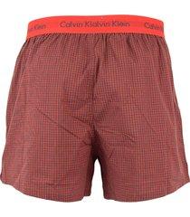 calvin klein boxers ck 2-pak rood ruit