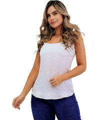 blusa básica de seda con tiras natural unipunto 32373