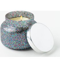 capri blue® vanilla confetti glam signature candle jar - white