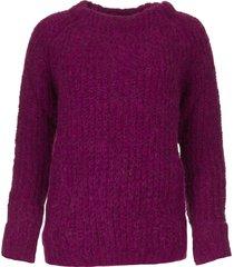 gebreide trui bijou  paars