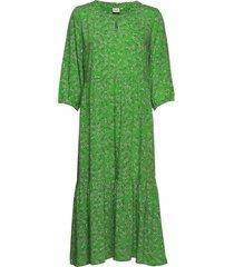 daisycr flounce dress jurk knielengte groen cream