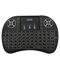 air mouse 2 em 1 para smart tv oex c/ led ck103 preto
