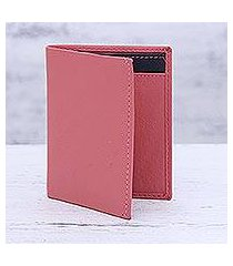 leather card holder wallet, 'plush passion' (india)