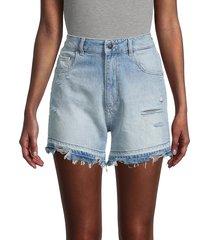 dl1961 women's hepburn denim shorts - millie - size 24 (0)
