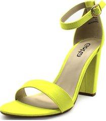 sandalia verde fluor gotta