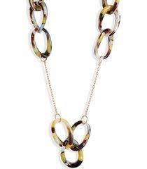 women's lele sadoughi interlocking hoop station necklace