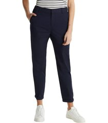 pantalón chino con algodón ecológico azul marino esprit