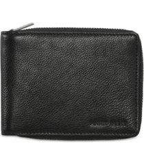 perry ellis men's leather zip wallet