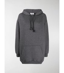acne studios logo patch oversized hoodie