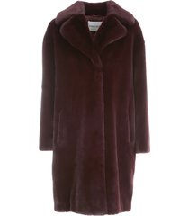 camille fur soft teddy cocoon coat