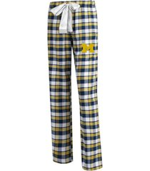 concepts sport women's michigan wolverines piedmont flannel pajama pants