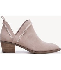 women's nikkie braided bootie dusty rose size 11 suede from sole society