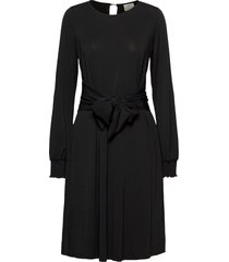 kaantonia dress knälång klänning svart kaffe