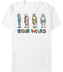 star wars men's classic crayon drawn stormtroopers short sleeve t-shirt