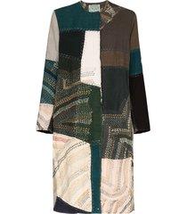 by walid tanita printed coat - green