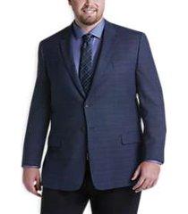 pronto uomo platinum executive fit sport coat blue plaid
