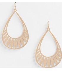 maurices womens gold leaves teardrop earrings