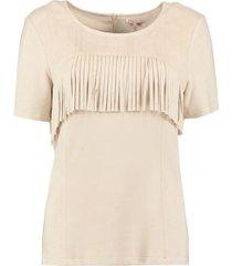 esqualo suedine (suède look) shirt beige