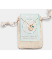 pisces constellation necklace pouch - blue