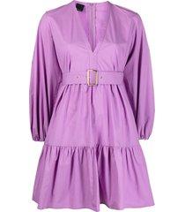 pinko lilac cotton poplin dress