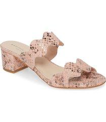 women's patricia green palm beach slide sandal, size 7.5 m - pink