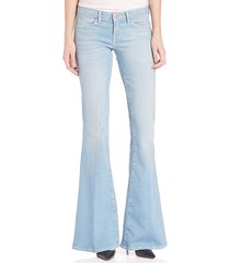 l'agence women's elysee low-rise flare jeans - powder - size 26 (2-4)
