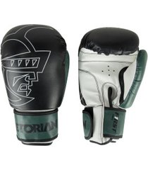 luvas de boxe pretorian first 14 oz - adulto - preto/branco