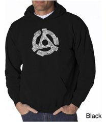 la pop art men's word art hoodie - record adapter