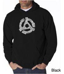 la pop art men's word art hoodie - record adapter