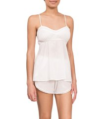 everyday ritual lily daisy camisole short pajamas, size xx-large in white at nordstrom