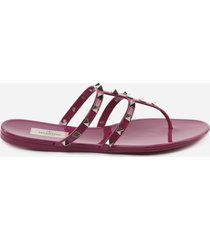 valentino garavani rockstud thong sandal in pvc