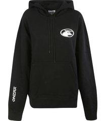 kenzo logo sleeve oversized hoodie
