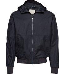 basswood hood jacket tunn jacka svart knowledge cotton apparel