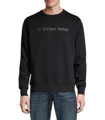 g-star raw men's logo crewneck sweatshirt - black - size l