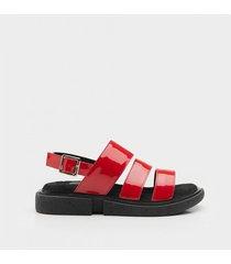 sandalia   roja paio ivy