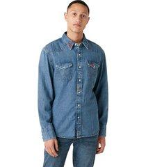 overhemd lange mouw wrangler chemise deux poches 27mw