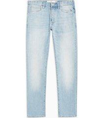 mens blue light wash stretch slim jeans