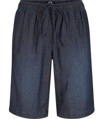 bermuda in denim leggero con tencel® lyocell e cinta comoda (nero) - bpc bonprix collection