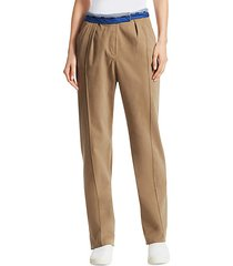 rolled-up stretch cotton pants
