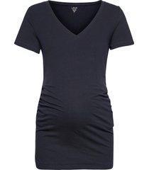 maternity pure body v-neck t-shirt t-shirts & tops short-sleeved blå gap