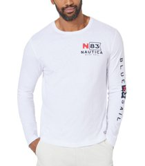 nautica men's blue sail logo graphic shirt, created for macy's