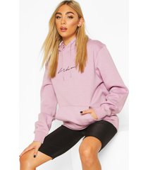 woman signature oversized hoodie, lilac